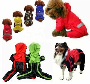 Dog coat water-resistant rain trouser suit clothes mac SMALL to EXTRA LARGE size