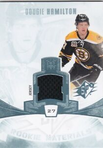 DOUGIE HAMILTON NO:RM-DH ROOKIE MATERIALS in SPx 2013-14      a