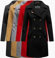 Navahoo Damen Business Mantel Trenchcoat woll winter Jacke übergangsjacke mantel