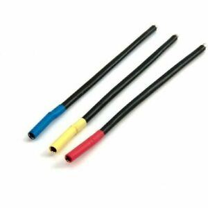 Brushless Motor Wire Set 4mm Bullet Conn Female Bl/Yel/Org Dynamite DYNC0138