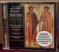 CLASSIC RECORDS CD DAD-1021: PROKOFIEV Alexander Nevsky, Scheherazade 1998 US SS