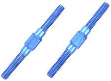Tamiya Alu li/re-barras de rosca 3x32mm (2) azul - 300054249