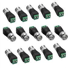 15 conector BNC en terminal bornas bloque adaptador para cctv cámaras de vídeo conector