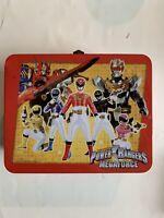 Saban's Power Rangers Megaforce Tin Metal Lunchbox With 40 Piece Puzzle LOOK!