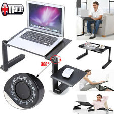 PORTABLE LAPTOP USB DESK TABLE BED COOLING FANS STAND TRAY ADJUSTABLE FOLDABLE