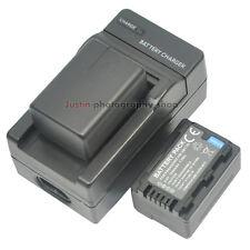 Charger +2x 1950mAh Battery For Panasonic VW-VBT190 HC-W570 HC-V720 V770 V570