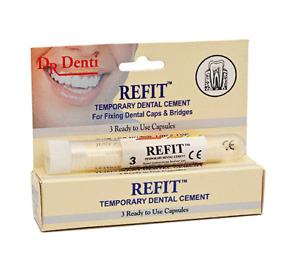 Dr Denti Refit™ - Temporary Dental Cement - Bridges/Veneers/Crowns/Inlays/Onlays