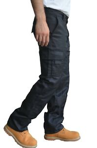 Toughened Combat Cargo Utility Work Trousers Pants 6 Pocket sizes 32 to 42 Waist