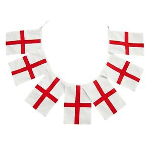 HUGE 10 Metre England 100d FABRIC Flags Bunting SPEEDY DELIVERY
