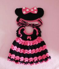 Wellie Wishers Doll Clothes HPk Minnie Mouse Dress & Hat Fits American Girl 14.5
