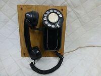 1940s Spacemaker Rotary Wall Phone Black Bakelite Model 43