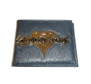 Kingdom Hearts Wallet Bifold Metal Logo Disney Video Game Crown Concept One Blue