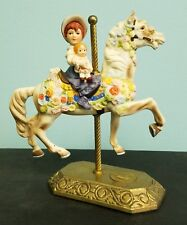 Rare Beautiful Willitts Limited Edition Americana Horse Child Carousel Figurine