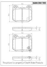 Disc Brake Pad Set-CERAMIC PADS Rear Dash 4 Brake CD961