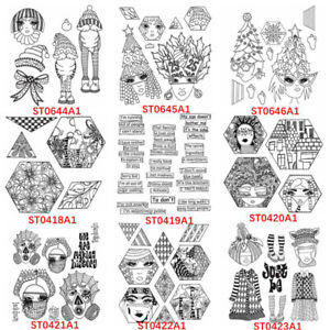 Vintage Face Festival Silicone/clear Stamps Diy Scrapbooking Handmade Crafts