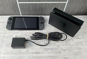 Nintendo Switch HAC-001 32GB Video Game System Console Bundle w Gray Joycons