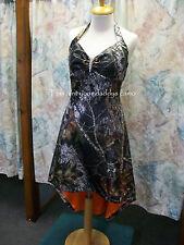 'Erika Lyn' Custom CAMO Prom Wedding Bridesmaids Halter Hi-Lo Dress