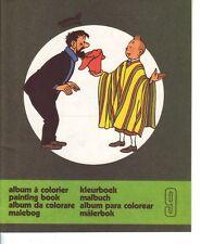 Tintin Herge livre colorier 1976 n° 9