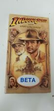 Indiana Jones Last Crusade Beta Tape Like New Condition! Very Rare!