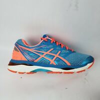 Asics Gel Cumulus 18 Womens Aquarium/Flash Coral/Blue Running Shoes Size 6