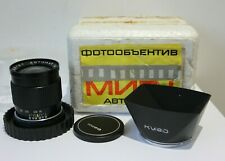 Mir 1 Automat.37mm f2.8 Wide Angle Lens With Sun Hood.For Kiev 10 & 15 Camera