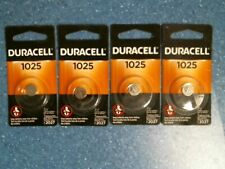 Duracell 1025, Coin Battery, 3V, Exp 2027, Lot of 4, Free S 00004000 Hipping