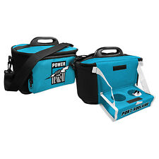 Adelaide Port Power AFL Lunch Cooler Bag With Drink Tray Table Insulated Work