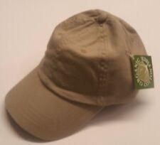 6 x Adult Baseball Caps - Khaki with Adjustable Strap Organic 100% Cotton NIB