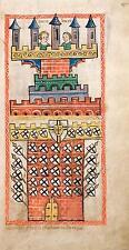 Westfalia o Colonia Alemania Castillo Medieval Escudos 1360 7x4 pulgadas impresión