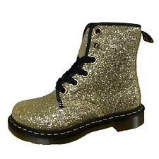 E90 anfibio donna DR.MARTENS FARRAH gold glitter boots women