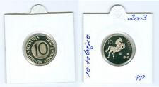 Slowenien 10 Tolarjev 2003 PP  Nur 800 Stück!