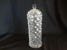 Elegant Fostoria American Glassware - Tall Straw Dispenser with Glass Lid