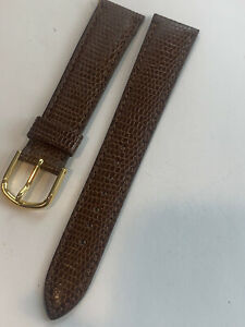 New Old Stock Seiko Brown Genuine Leather Watch Band 18 MM