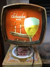 1960's VINTAGE F. & M. SCHAEFER BREWING COMPANY BEER LIGHT #380 Works Perfectly