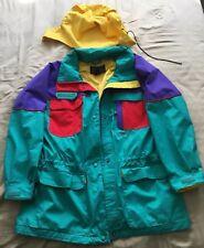 Vintage Eddie Bauer Men's Nylon GoreTex Rain Snow Jacket Green Size Large/XLarge