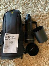 Nikon AF-S VR ZOOM Nikkor ED200-400mm f/4G IF VR Lens + C-PL1L Filter + LensCoat