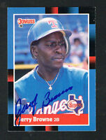 Jerry Browne #408 signed autograph auto 1988 Donruss Baseball Trading Card