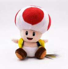 Super Mario Toad Plush Red Doll Stuffed Soft Toy 6 Inch