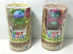 Hasbro Ugly Dolls Cool Dude Ox &  Pancake  Champ Hero Tray Figure  Accessories