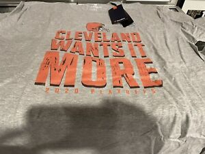2020 Cleveland Browns Playoffs T Shirt XL Fanatics Brand Brand New With Tags