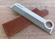 Chicago Comb No. 1 + English Tan Horween leather sheath, Made in USA, save $11