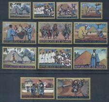 GUINEA* 1968* compl.set 12 stamps* MNH** Costumes & Habitations - Mi. 468-479
