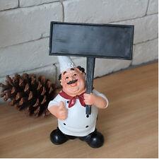 Restaurant Kitchen Decor Cute Resin Chef Cook Figurine Holding Blackboard Statue