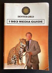1983 Denver Gold USFL Football Media Guide