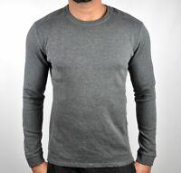 Calvin Klein Premium CK Military Sweater Jumper Sweatshirt In Army Grey