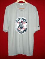 Nice MLB Cleveland Indians Gray Throwback Logo Jersey/Shirt Size Mens XL