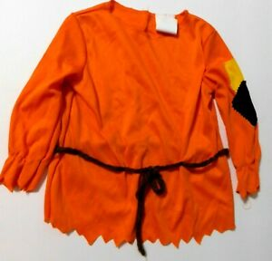 Infant 12-18Mo Orange  Scarecrow Shirt , Halloween Costume Top Only