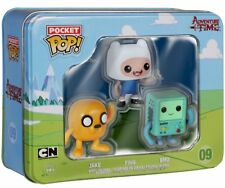 Funko Pocket Pop! Adventure Time Tin 3 Pack featuring Finn, Jake & BMO - NEW