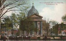 Postcard R.C. Cathedral 18th and Race Sts Philadelphia PA