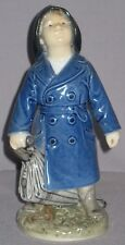 """Vintage Royal Copenhagen Figurine 'Boy with Umbrella' #3556 Ada Bonfils 7""""H"""